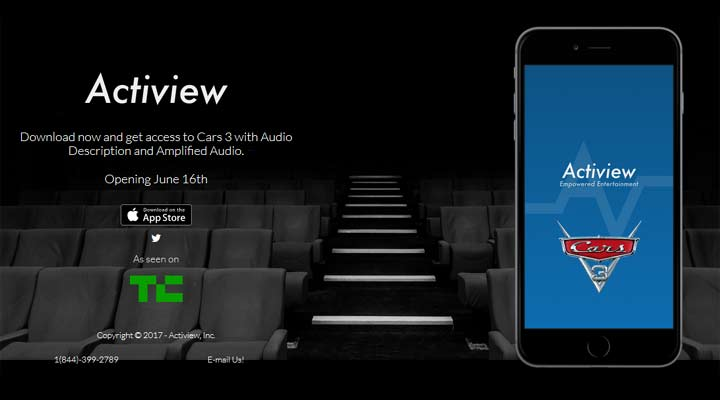 Actiview application for streaming movies for hearing and vision impaired